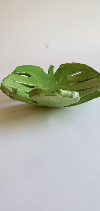Grote afbeelding Groene fruitschaal