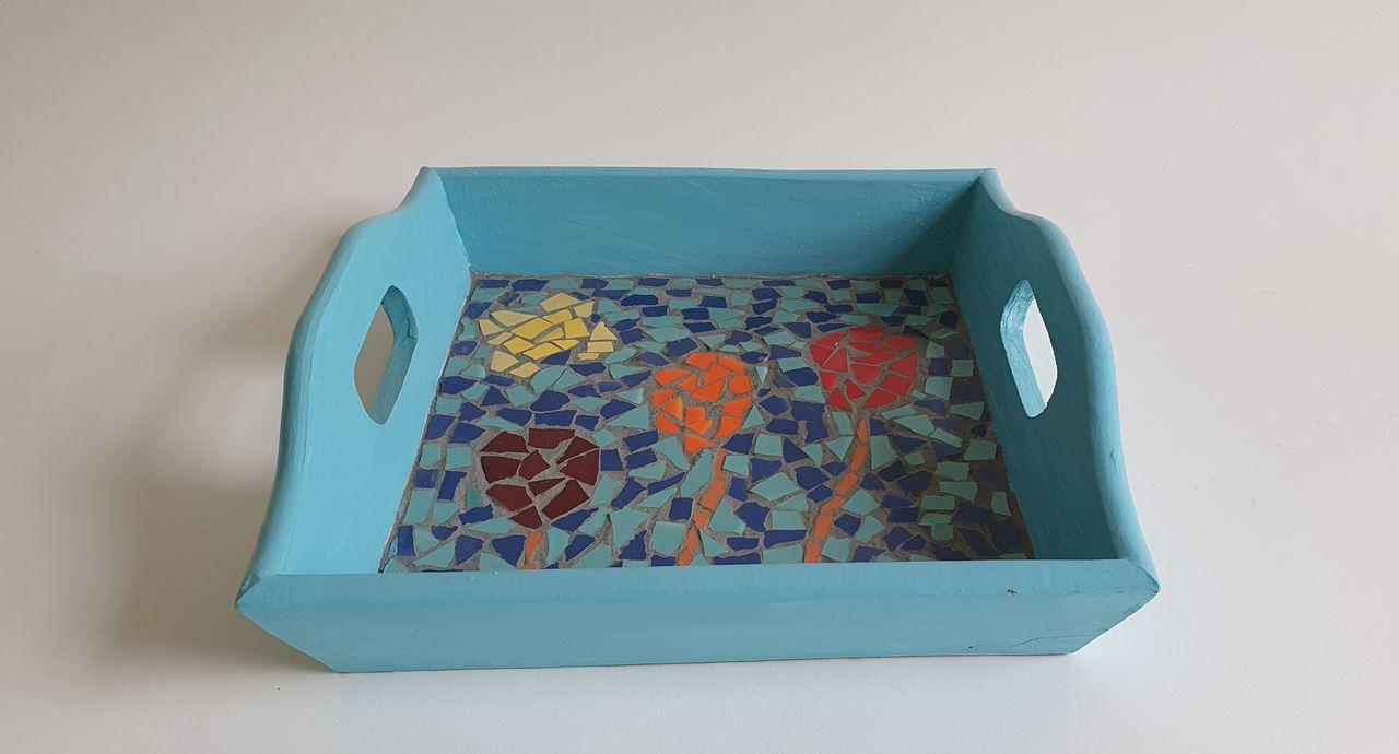 Grote afbeelding Klein mosaic dienblad