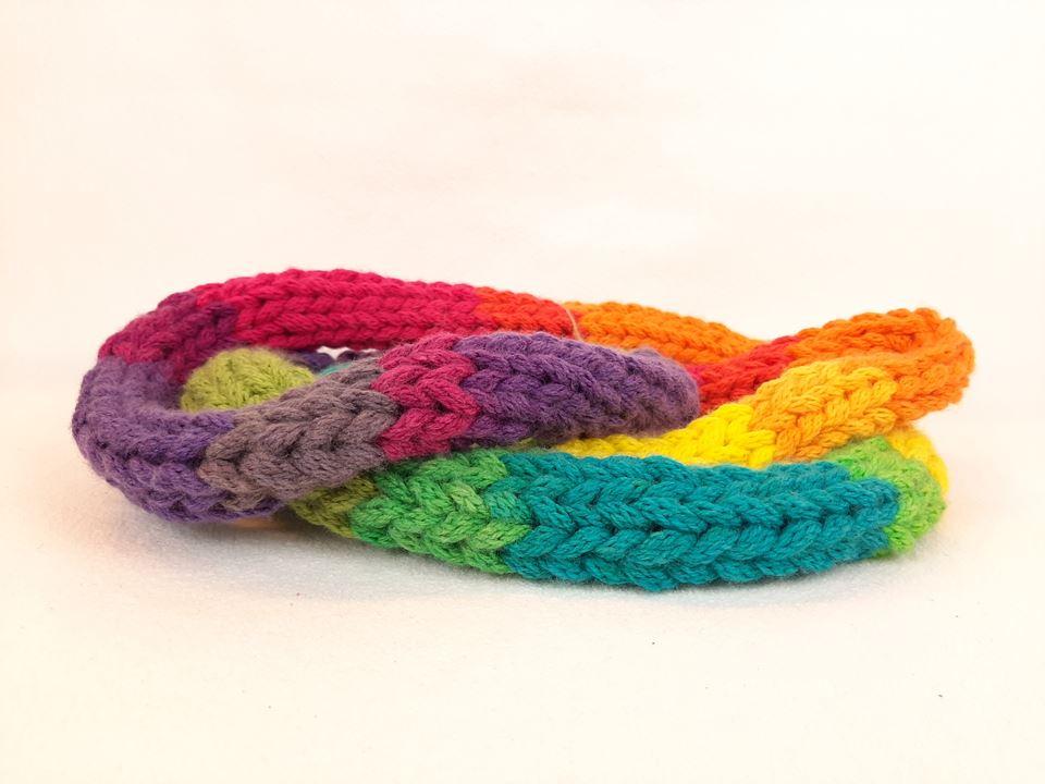 Grote afbeelding Sjaal: 'Alle kleuren van de regenboog'