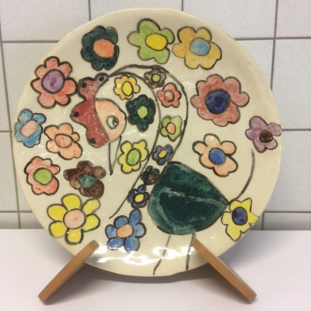 Grote afbeelding bloemenmeisje